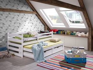 Kinderbed TINA 80x160 Wit