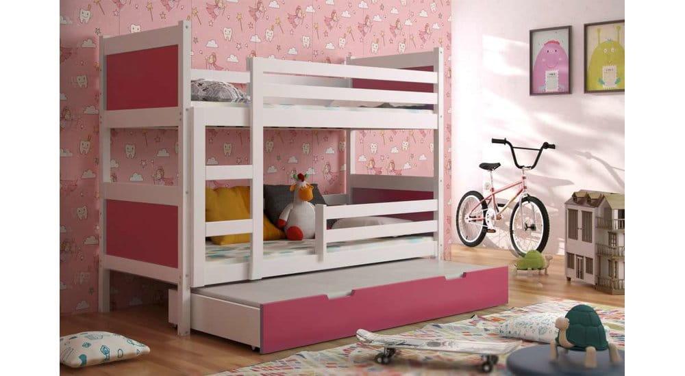etagenbett luca f r 3 personen kinder meubels 24. Black Bedroom Furniture Sets. Home Design Ideas