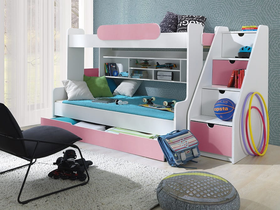 etagenbett sally f r 3 personen kinder meubels 24. Black Bedroom Furniture Sets. Home Design Ideas