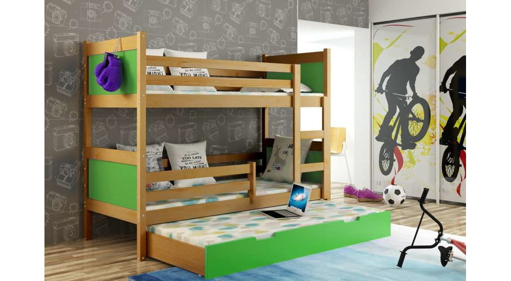 etagenbett luca f r 3 personen kinder meubels 24. Black Bedroom Furniture Sets. Home Design Ideas